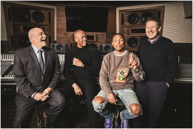 Howard King, clients Dr Dre and Pharrell Williams, and Peter Paterno